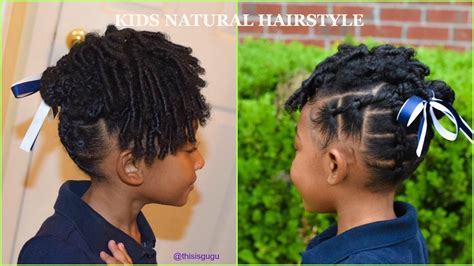 kids natural hairstyles easy  girls rubberband