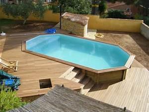 Escalier Pour Piscine Hors Sol : votre piscine semi enterr e 30 id es cr atives ~ Dailycaller-alerts.com Idées de Décoration