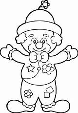 Coloring Wecoloringpage Clown sketch template