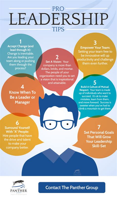 pro leadership tips infographic