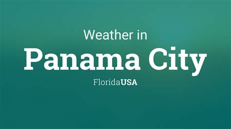 weather  panama city florida usa