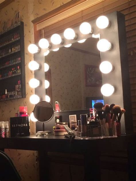 ideas  making   vanity mirror  lights diy