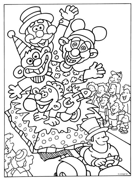 Optocht Kleurplaat by Kleurplaat Carnaval Optocht Kleurplaten Nl Clowns