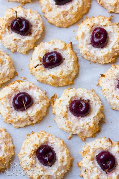 Coconut Macaroons with Cherry Recipe