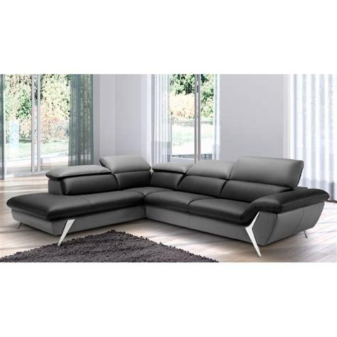 canapé en cuir grand canapé d 39 angle méridienne 6 places cuir haut de gamme