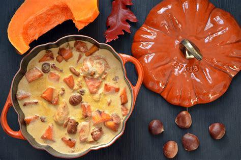 cuisiner du potiron blanquette de dinde marrons et potiron