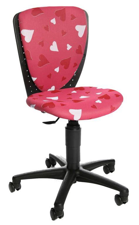 roulettes de fauteuil de bureau chaise de bureau enfant fille motif coeurs chaise de