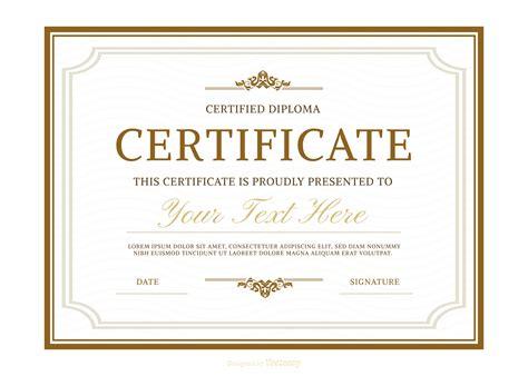 Diploma Template Diplomas Free Vector 1099 Free Downloads
