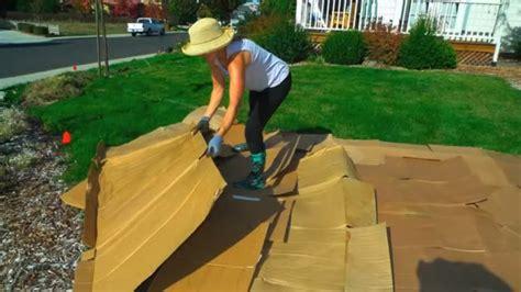 convert  lawn  sheet mulching youtube