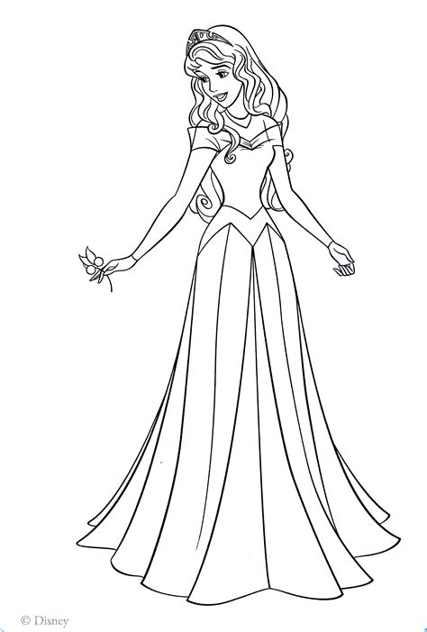 princess aurora coloring pages    print