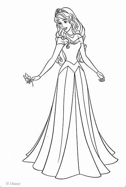 Aurora Coloring Disney Princess Pages Walt Characters