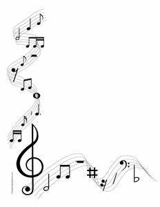 Musical Notes- Portrait-Blank | Borders free, Music notes ...