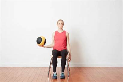 Ball Medicine Exercises Seated Workout Training Upper