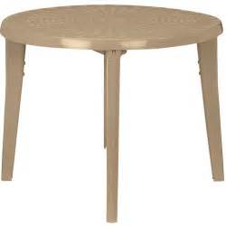 mainstays us leisure round resin table dune walmart com