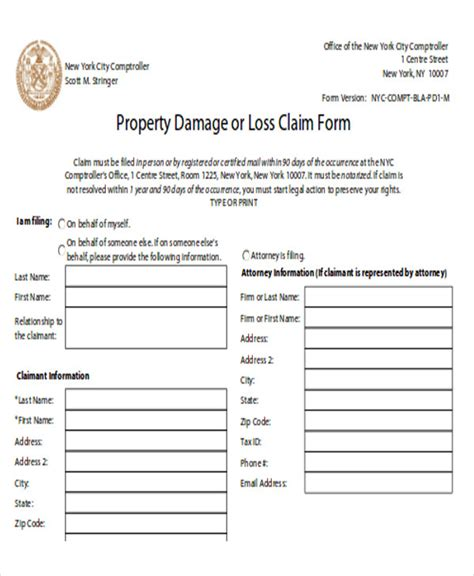 sample property damage release form  examples  word
