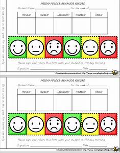 7 best images of behavior calendar printable weekly With smiley face behavior chart template