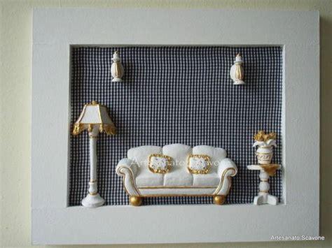 quadro sala em miniatura artesanato scavone elo7