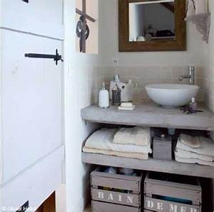 Bois Pour Salle De Bain : 10 rangements salle de bain pour un gain de place maxi ~ Melissatoandfro.com Idées de Décoration