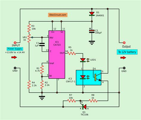 Convert Power Supply Battery Charger Eleccircuit