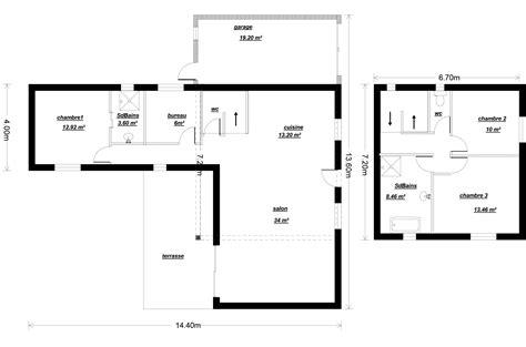 plan maison etage 4 chambres plan maison 80m2 2 chambres plan rdc maison une maison