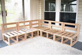 Outdoor Patio Furniture With Bench Seating by Ana White Outdoor Sectional DIY Projects