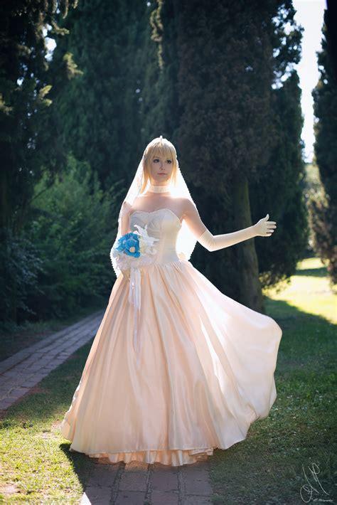 fatestay night saber wedding dress   kiaraberry