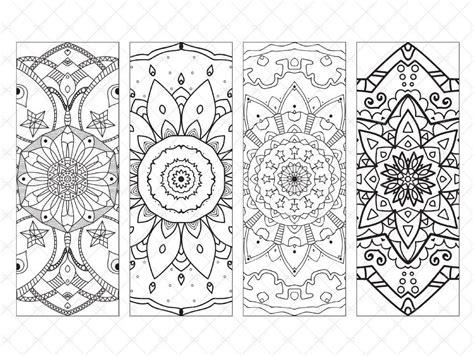 Printable Bookmarks With Mandala