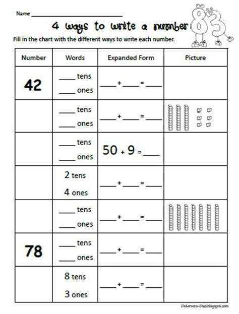 homeschool parent 4 ways to write a number free printable