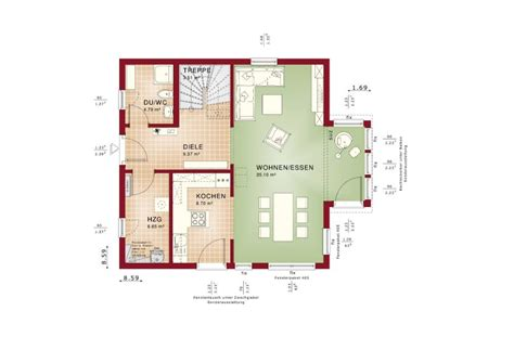Einfamilienhaus Classic Living 125 by Einfamilienhaus Grundriss Haus Solution 125 V4 Living