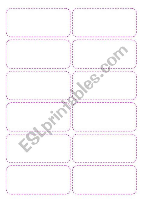 1 4 page card template worksheets cards template 4 pages 48 cards