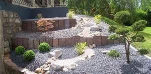 Jardin En Pente Raide : amenagement jardin terrain en pente ~ Melissatoandfro.com Idées de Décoration