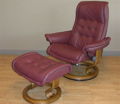 stressless royal winered leather recliner chair