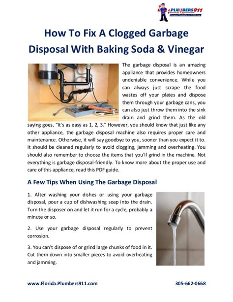 clogged sink vinegar baking soda how to fix a clogged garbage disposal with baking soda