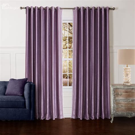 pin purple curtains with light spot on