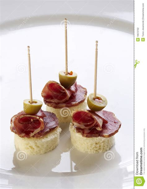 canapé 2places different sort of canape stock photography image 16672702
