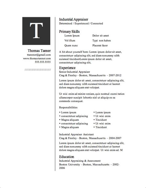 Free Format For Resume by 12 Resume Templates For Microsoft Word Free Primer