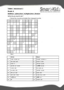 grade  maths worksheet   operations smartkids
