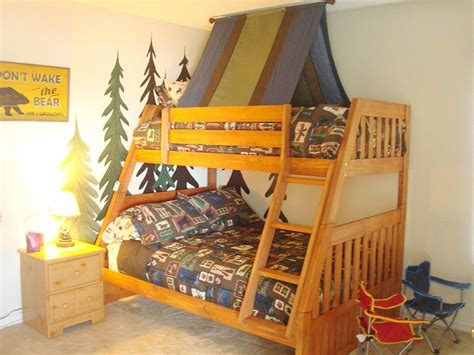 Tent On Top Of Loft Bed In Playroom
