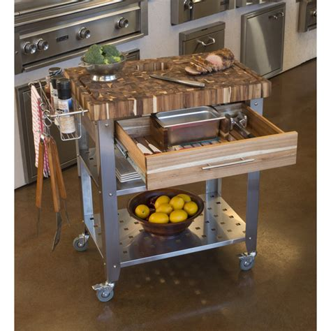 how to make a kitchen island with seating chris chris pro stadium kitchen cart with butcher block 9788