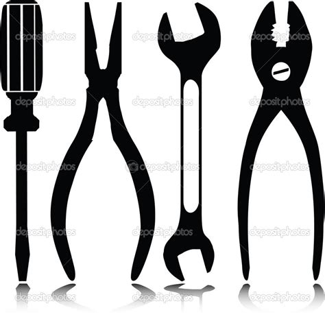 tool silhouette  getdrawings