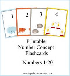 printable number concept flashcards imperfect homemaker