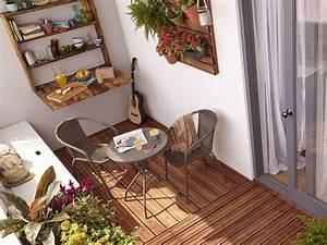 Salon Pour Balcon : id es d co fut es pour petit balcon joli place ~ Teatrodelosmanantiales.com Idées de Décoration