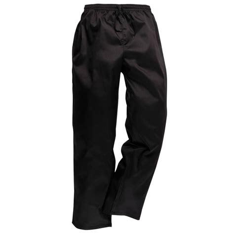 pantalon cuisine noir pantalon de cuisine noir ceinture élastiquée et cordon de