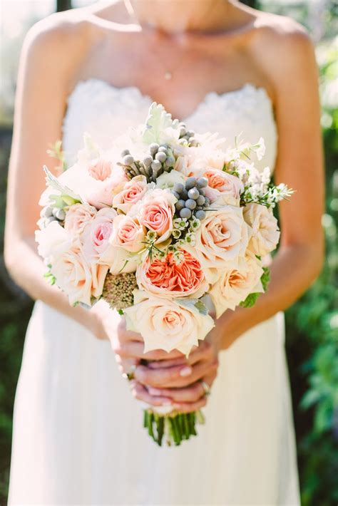 Wedding Flowers From Springwell Peach Garden Roses And