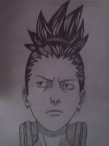 How to draw shikamaru