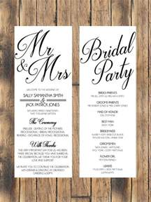diy wedding invitation best 25 wedding programs ideas on ceremony