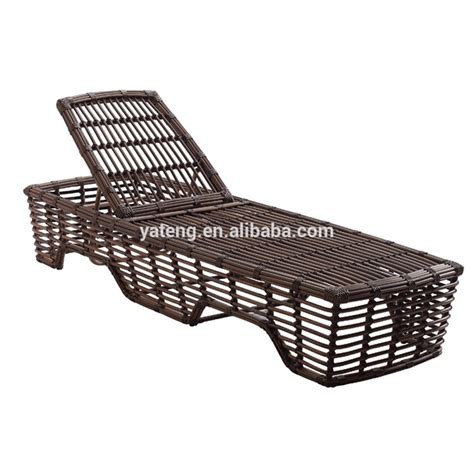 protection chaise low price rattan wicker swimming pool sun lounger for