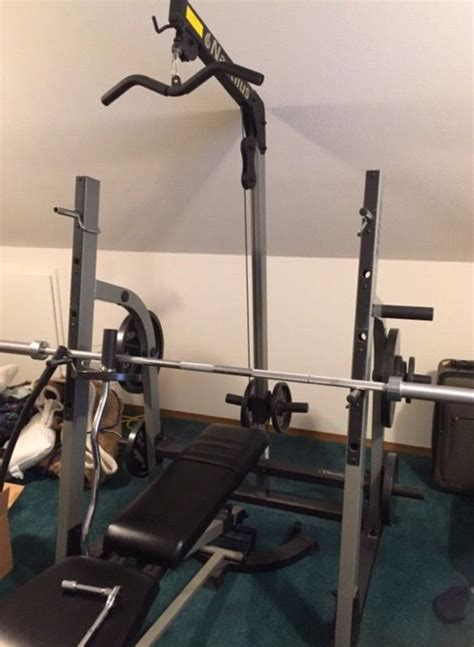 Nautilus Workout Bench by Nautilus Squat Rack And Weight Bench For Sale In Seattle