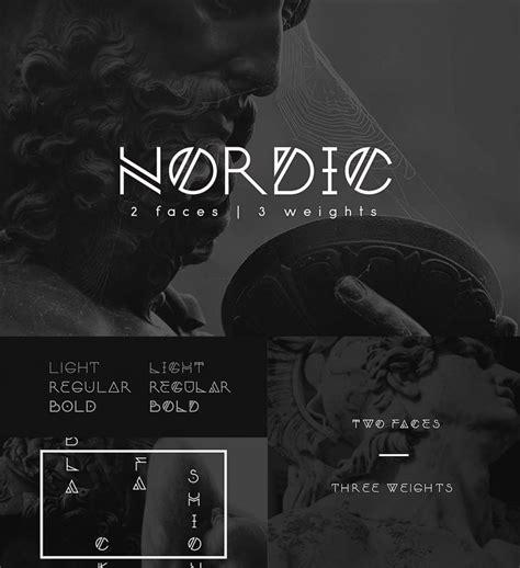 nordic modern font