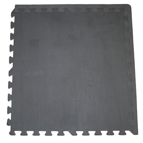 polytuf interlocking solid black foam floor mats 4pk